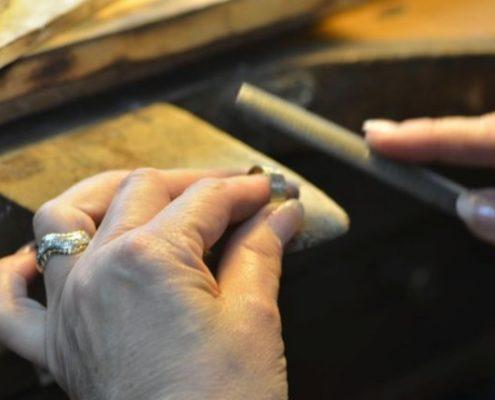 פיצור טבעת והכנה לניסור