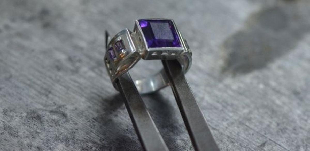 טבעת אישית בעבודות יד שיוצרה בקורס הצורפות שלנו